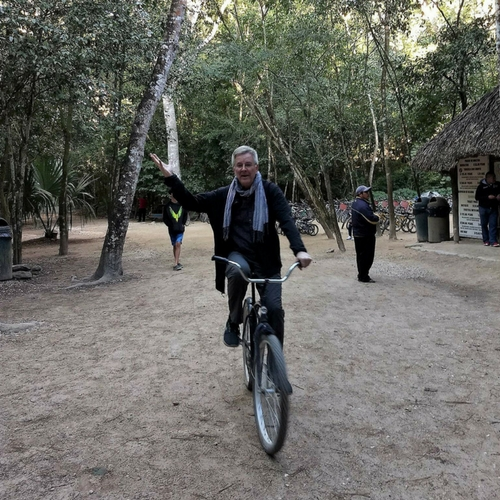 Our friend Rick Steves on Coba bikes