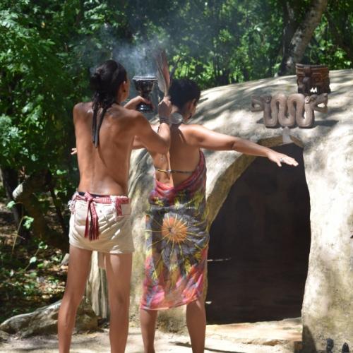 Copal Purificacion before Temazcal
