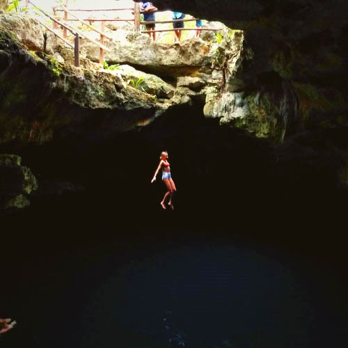 You can jump into the Cenote!